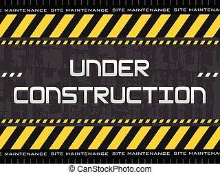 construction, résumé, fond, sous