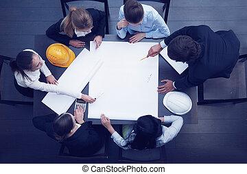 construction, réunion affaires
