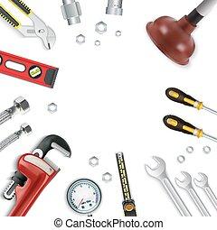 Construction repair tools icon set
