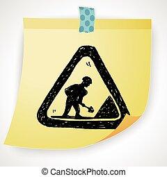 construction road  doodle