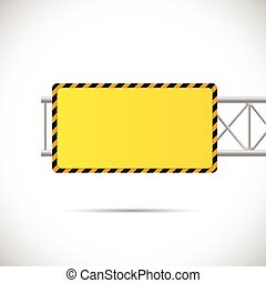Construction Road Sign Illustration