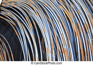 Construction Rod - A pile of construction rod of the build ...
