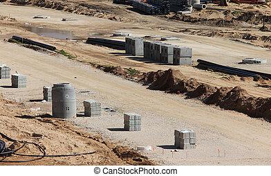 construction route, site