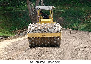 construction, route, véhicule