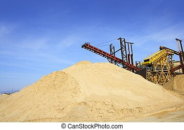construction sand quarry stock mountain machinery - ...