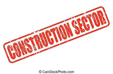 CONSTRUCTION SECTOR red stamp text