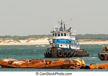 construction ships in oregon inlet outer banks nc