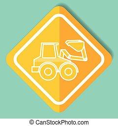 construction sign bulldozer machinery image