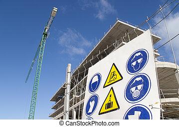 construction sign crane