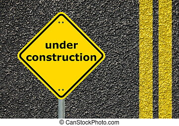 construction sign - this website is under construction shown...