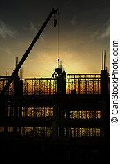 construction, silhouette