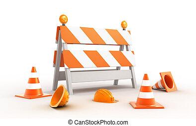 Construction site, 3d