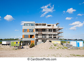 Construction site - A construction site in Zeeburg,...