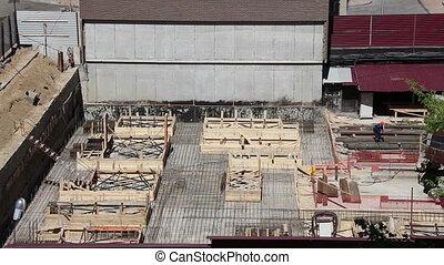 Construction site area for new condominium