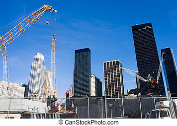 Construction site at Ground Zero, New York City