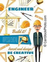 Construction site builder engineer profession