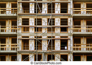 construction site, carcass