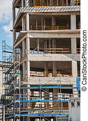 Construction site, concrete edifice - Construction site
