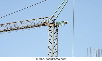 Construction site crane against  sky
