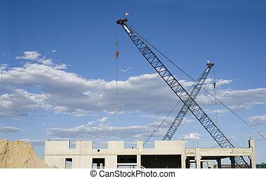 Construction Site Cranes, Building, Dirt
