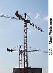 Construction site - cranes