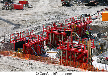 construction site for the construction of a shopping center