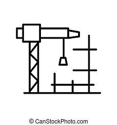 construction site illustration design