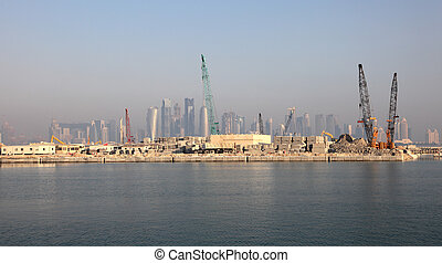 Construction site in Doha, Qatar, Middle East