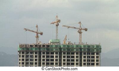 Construction site in Kuala Lumpur Malaysia
