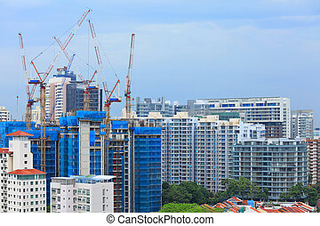 construction site in Singapore