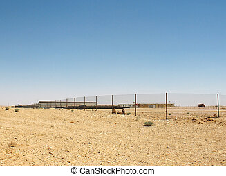 Construction site in the desert