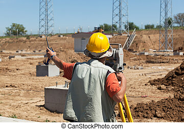 Construction site - Land surveying