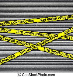 Construction Site Metal Shutter