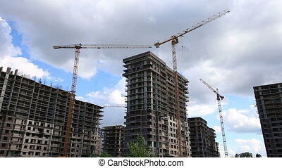 construction site of multi-storied buildings with the...