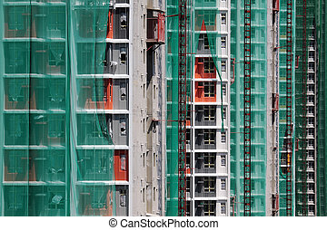 Construction site of private apartments