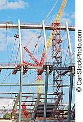 Construction site of stadium