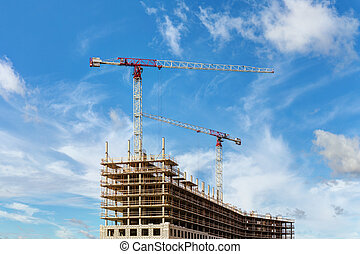 construction site on sky background