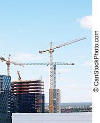 Construction site overview