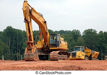 Photographed construction site in Georgia.