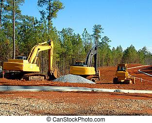 Construction Site - Photographed road building construction ...