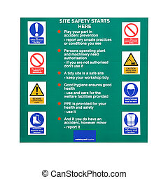 Construction Site Rules - Building construction site sign...