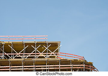 construction site , scaffolding on bulding site