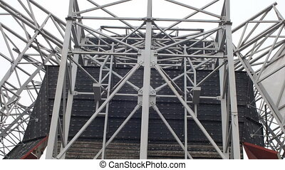 Construction site steel frame structure