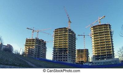Construction Site - HD1080:  Construction Site Time Lapse