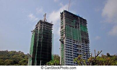 construction site - buildings under construction