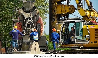 construction site, static camera