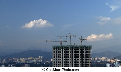 Construction site - Building construction site in Kuala...