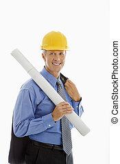 Construction site supervisor.