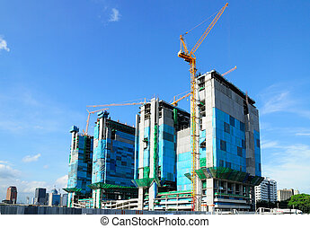 Construction Site Under the blue sky