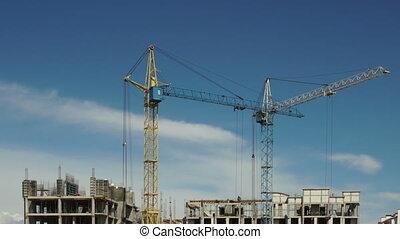 Construction site. Timelapse.
